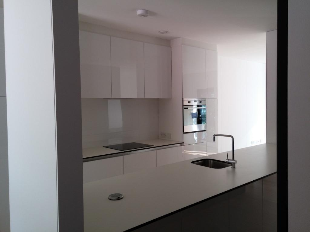 White modern high gloss kitchen furniture