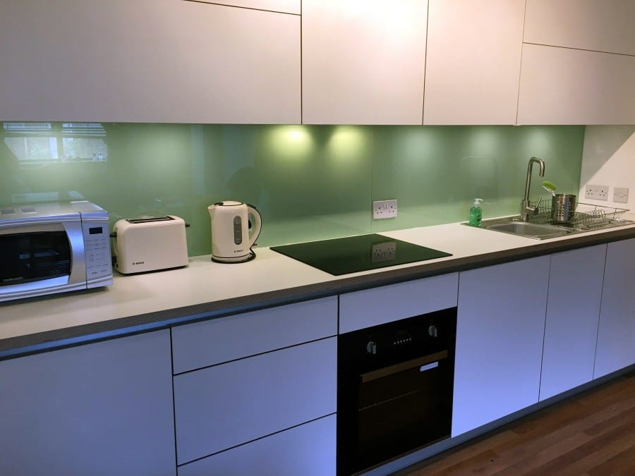 Modern style plywood fitted kitchen