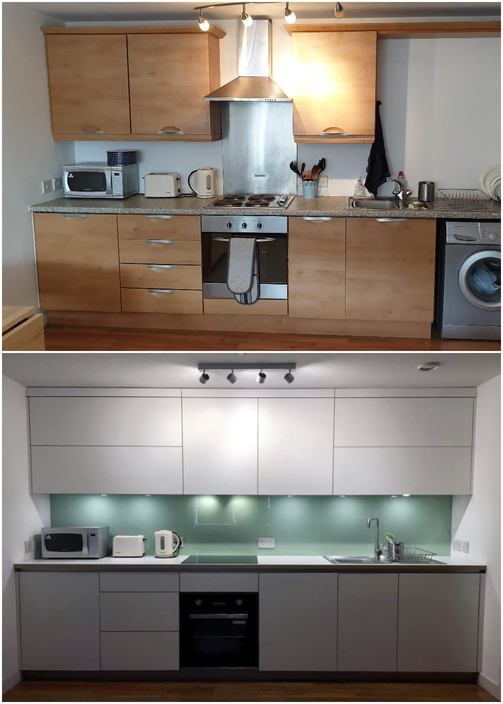 Before and after kitchen furniture