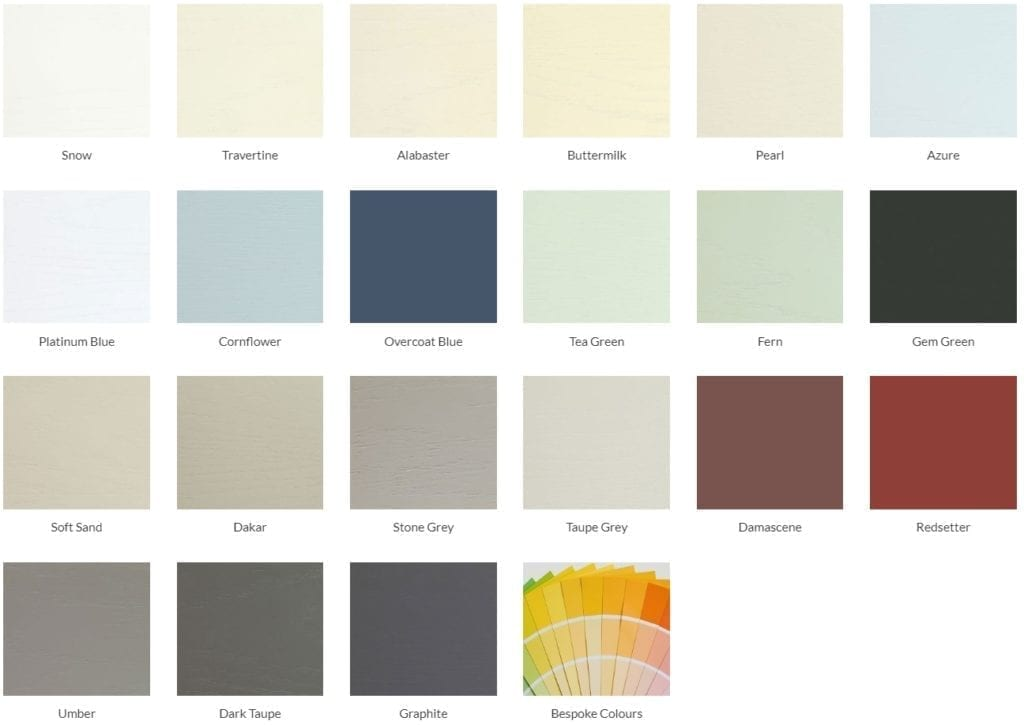 Inframe luxury kitchens color choice