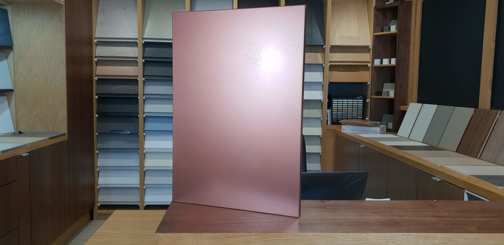 Copper finish kitchen doors