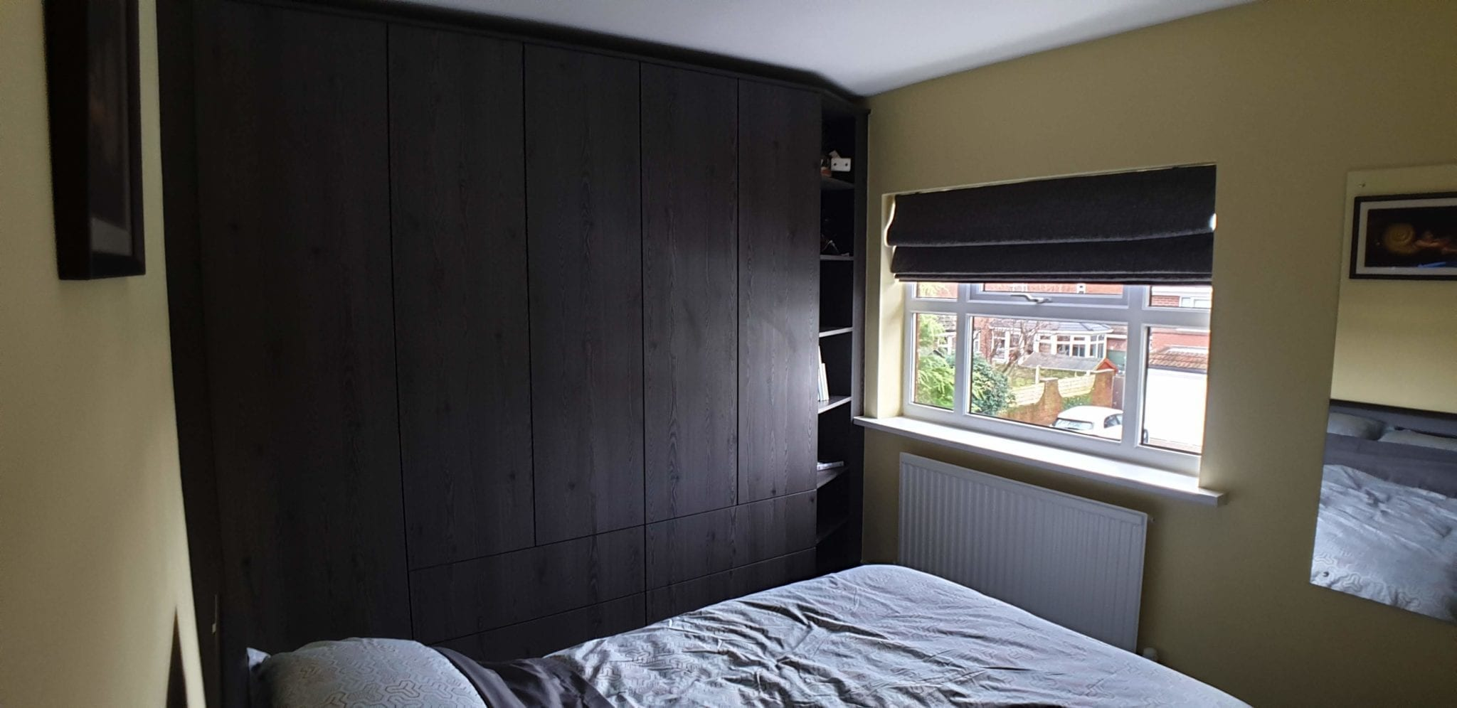 Fitted darkwood bedroom furniture, Pontefract