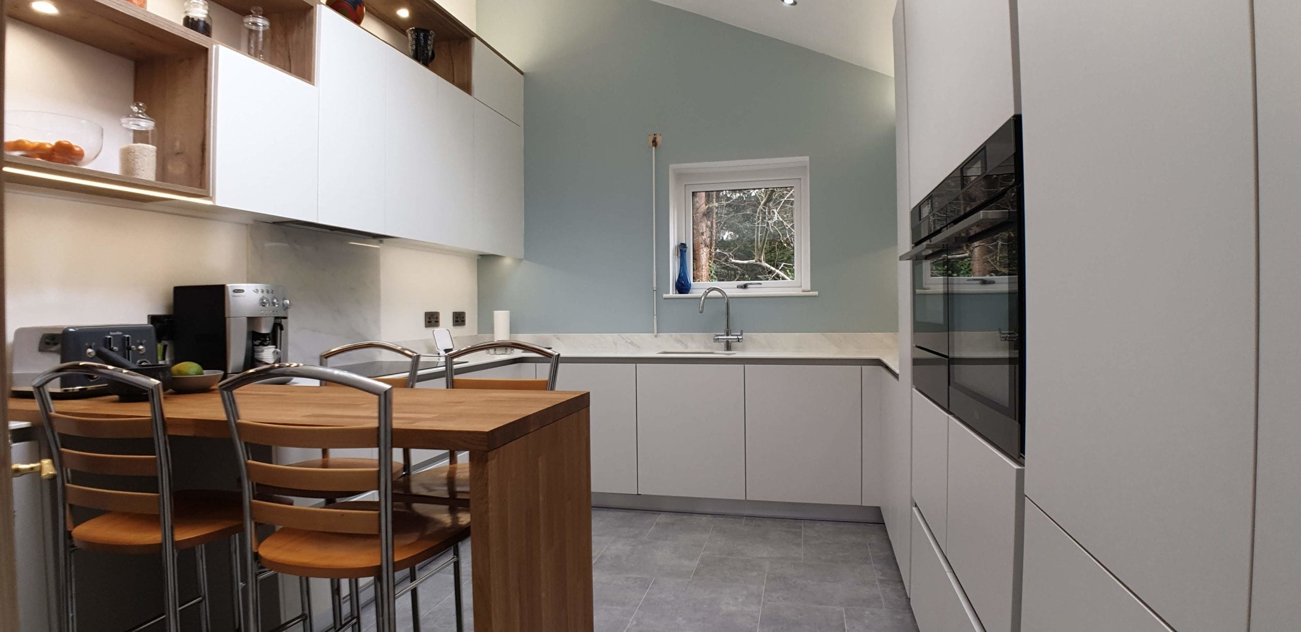 Truly handleless kitchen furniture ilkley