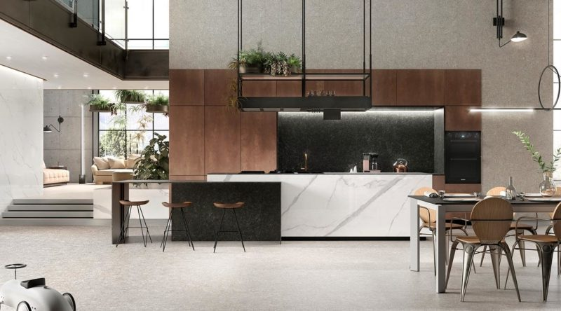 Inifinity porcelain kitchen