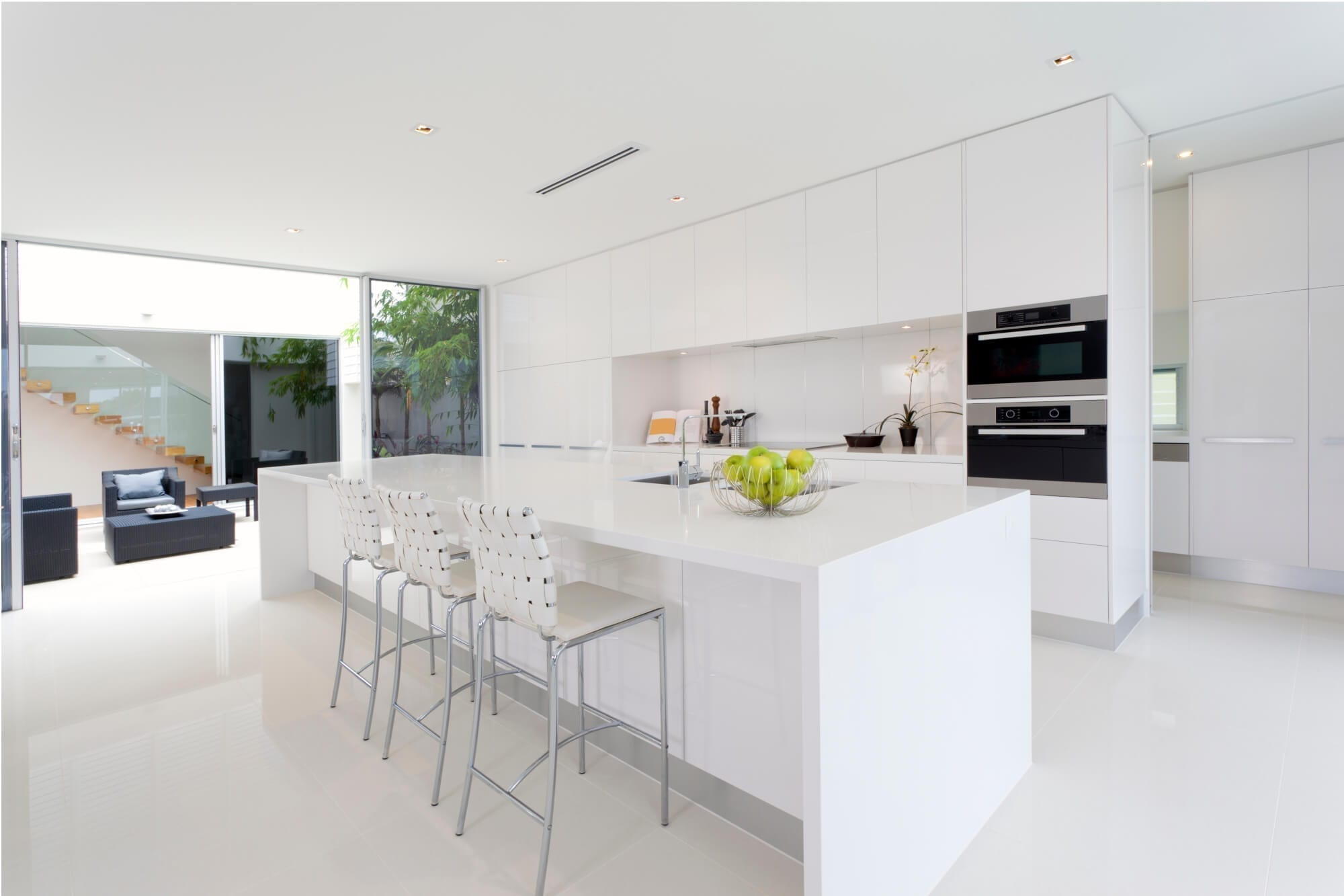 Fenix NTM modern white kitchen